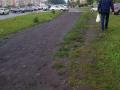 Жители Рудничного района вынуждены ходить по грязи – тротуара нет