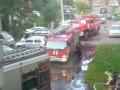 В Новокузнецке загорелась многоэтажка на Орджоникидзе