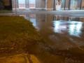 Около Бульвара Героев из-под земли забил ручей