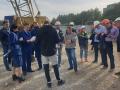 Строители культурного кластера в Кемерове требуют зарплаты с высокого крана
