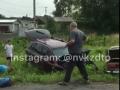 В Кузбассе сразу 2 машины улетели в кювет в результате аварии
