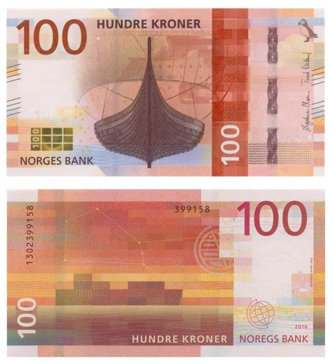 100 крон норвегия